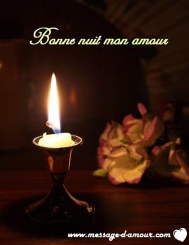 Image Bonne Nuit message d'amour pour souhaiter bonne nuit - message d'amour