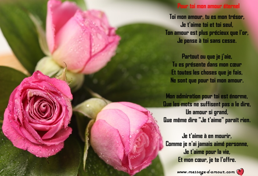 Les Plus Beaux Poèmes Damour Message Damour