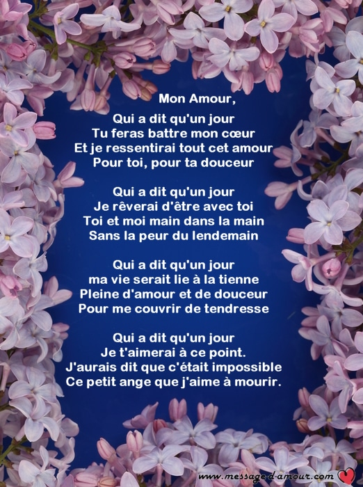 Poeme d 39 amour related keywords suggestions poeme d - Message original saint valentin ...