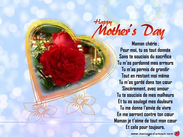 Poèmes Pour La Fête Des Mères Message Damour