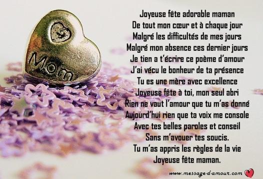 Po 232 Mes Pour La F 234 Te Des M 232 Res Message D Amour
