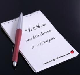 Lettre d'amour pour déclaration d'amour