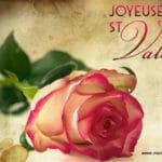Carte pour souhaiter joyeuse Saint Valentin
