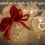 Carte joyeux noel romantique