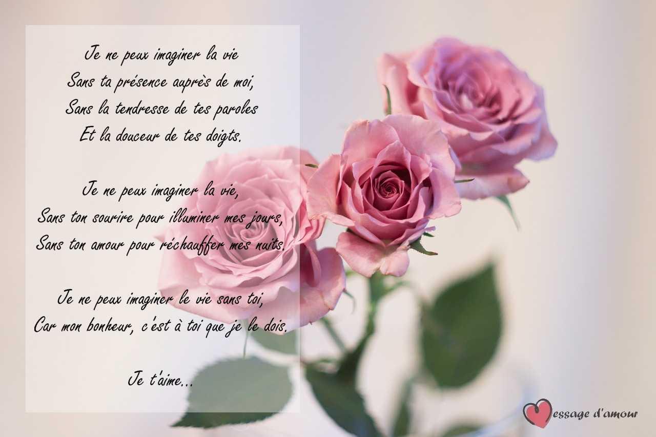 Poème Damour Pour Elle Message Damour