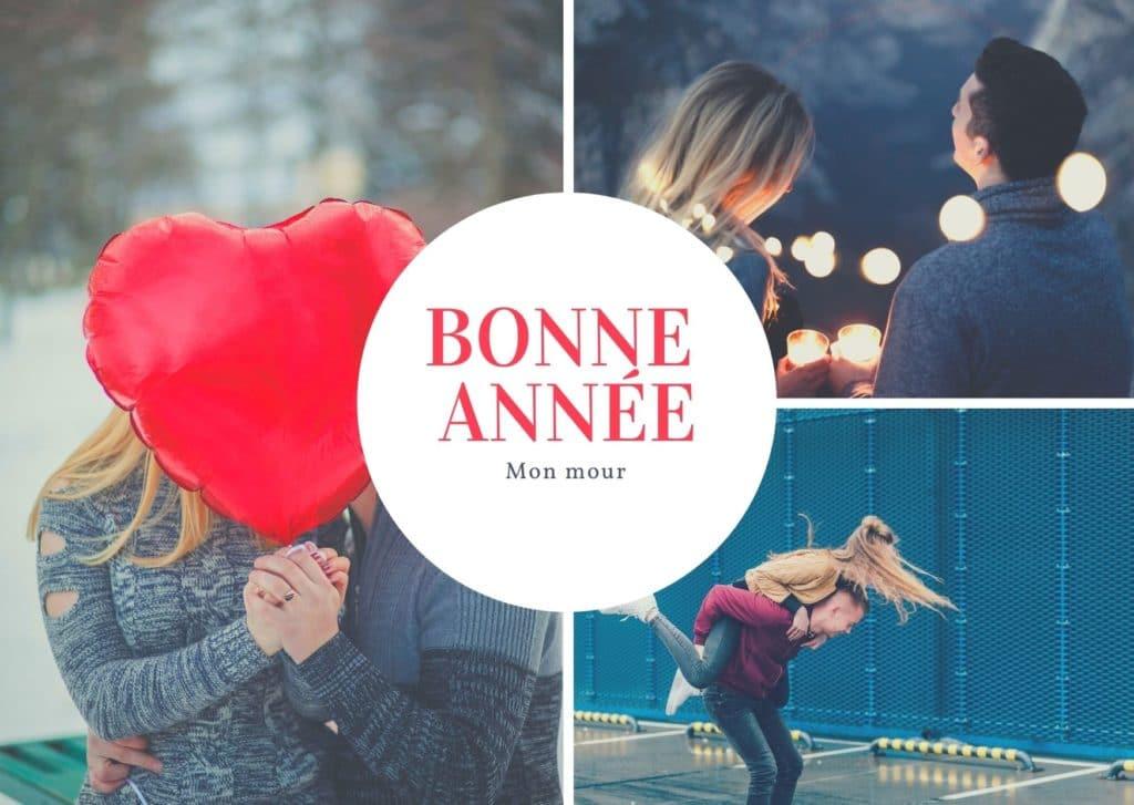 Carte bonne année mon amour